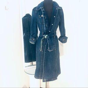Vintage Tommy Hilfiger Denim trench coat with belt